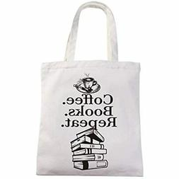 Coffee Books Repeat Market Grocery Tote Bag Gift For Lover K