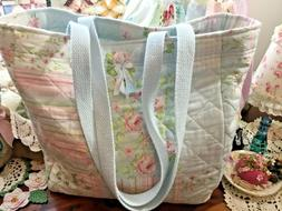 Handmade Cotton~Quilted Market Bag LOVE the patchwork print