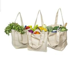 Canvas Grocery / Beach Bags  Eco Friendly / Organic Cotton
