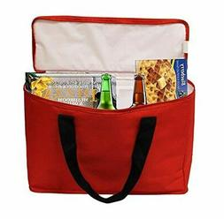 Insulated Grocery Bag Tote Extra Large Heavy Duty Nylon Cool