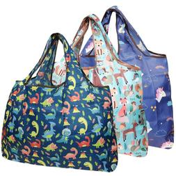 Wrapables Large Foldable Tote Nylon Reusable Grocery Bag, 3