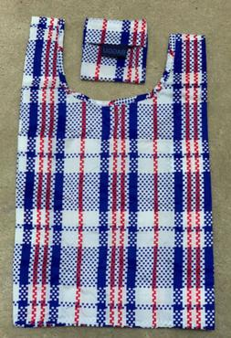 NEW Baby BAGGU Market Blue Reusable Tote, Red White Blue Ret