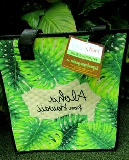 Paper Garden NWT Isulated Med Green TropicalLeaf Reusuable H