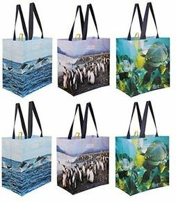 Reusable Grocery Bags Shopping Totes with National Geographi